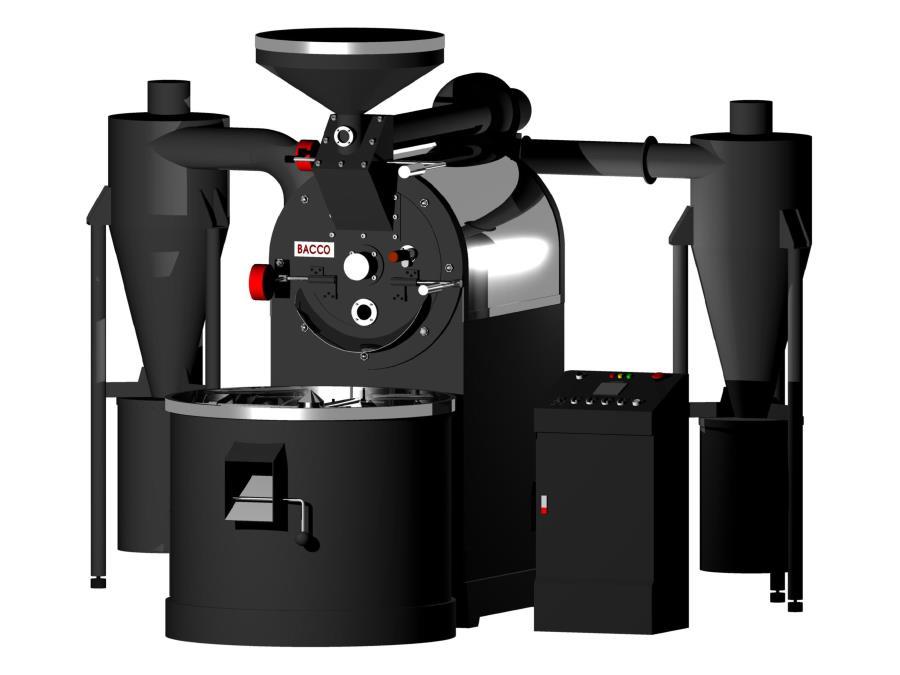 Kết quả hình ảnh cho máy rang cà phê bacco